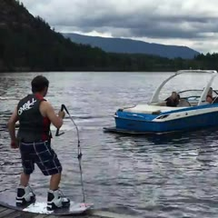 Wakeboarder Plunges Head First Into the Water