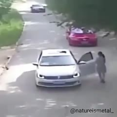 Never stand in the middle of the road