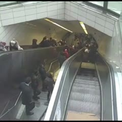 Hungry escalator swallowed man. It took 1 hour to save him.