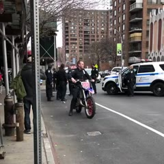 Cop crashes dirt bike in nyc