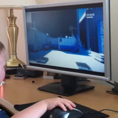 3 Years Old Plays Mirrors Edge Portal