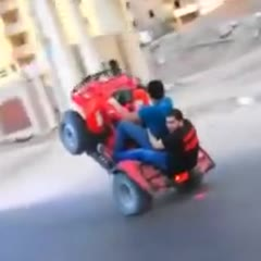 ATV stunt fail