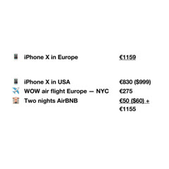buying iPhone X in europe? why not add a free weekend trip to NYC