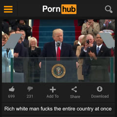 Rich white man fucks the entire country at once