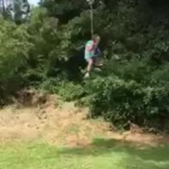 Kid Injured Twice Riding Rope Swing
