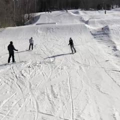 Painful Skiing Fail: Woman Took A Terrible Slam On Snow, Losing Her Skis.